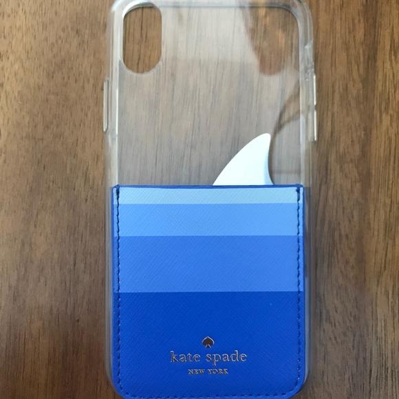 pretty nice ed2e7 f531c Kate spade clear shark fin pocket case iPhone X